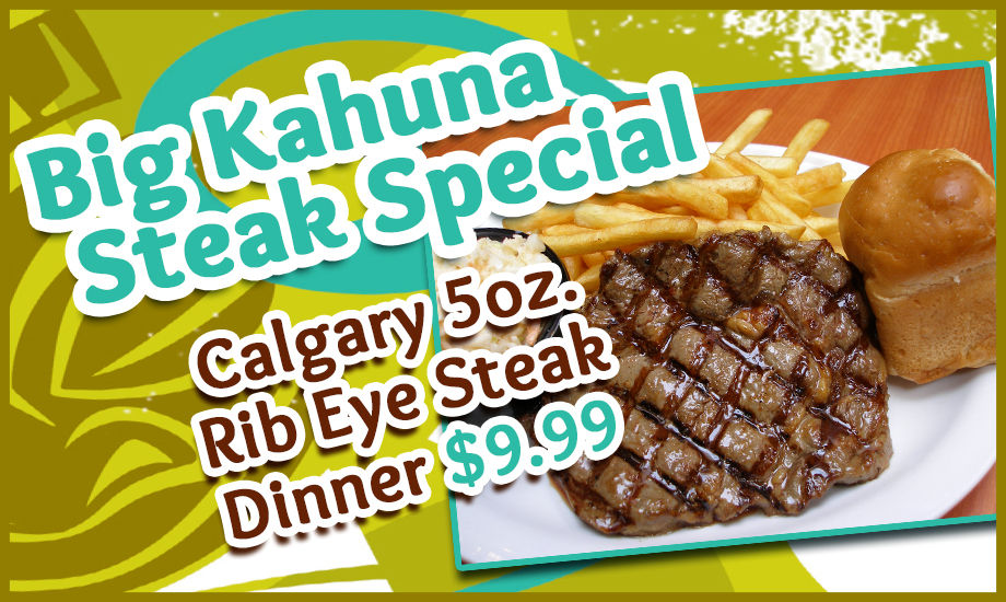 Steak And Stein Big Kahuna Steal Special