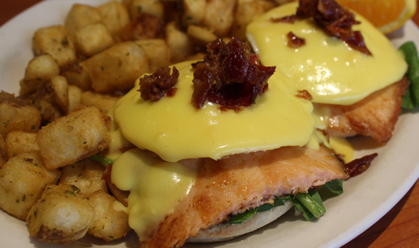 Steak and Stein Eggs Royale